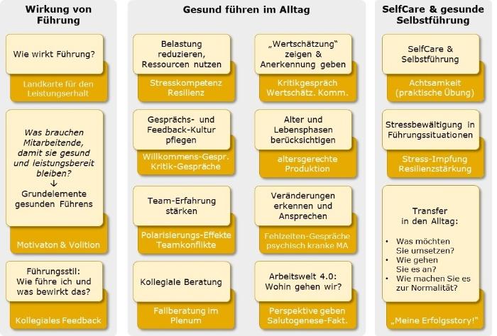 Module_des_Seminars_Gesunde_Fuehrung_mit_Vertiefungselementen_Mueller und Mooseder Unternehmensberatung